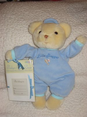 Eden Plush Teddy Bear Little Slugger with photo