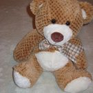 Fiesta Plush Checkered Teddy Bear with Plaid Bow