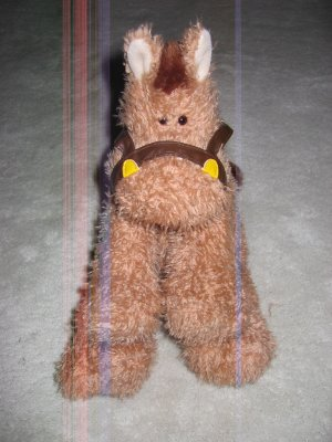 Gund Plush Horse Named Trot #30057  Plush Pony  Toy 8&quot; Brown