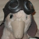 Vintage 1987  Gund Plush Aviator Duck with Goggles and leather like cap