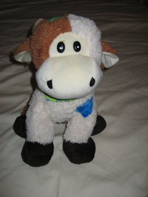 Royal Plush Toys Plush Cow with patches and a scarf