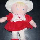 Just one year Carter's Red dress Plush Talking Doll Blonde Hair