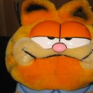 Vintage 1981 Dakin Plush Garfield with blue PJ&#39;s and Garfield Slippers