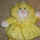 2006 Fisher Price Puffalump Yellow Kitty Cat