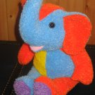 Kellytoy Plush Multi-colored Elephant Sooo soft