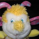 King Plush Yellow Bumble Bee with Pink Wings