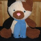 Old Navy Large Plush Kitty Cat Shaggy Brown, black and white 16&quot; Calico