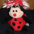Zibbies Lady Bug named Lily Plush with vinyl hair