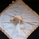 Carter's Tan Teddy Bear Blue Security Blanket Lovey Rattle