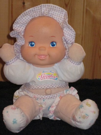Baby's First Giggles GoldBerger doll with a Belly Button