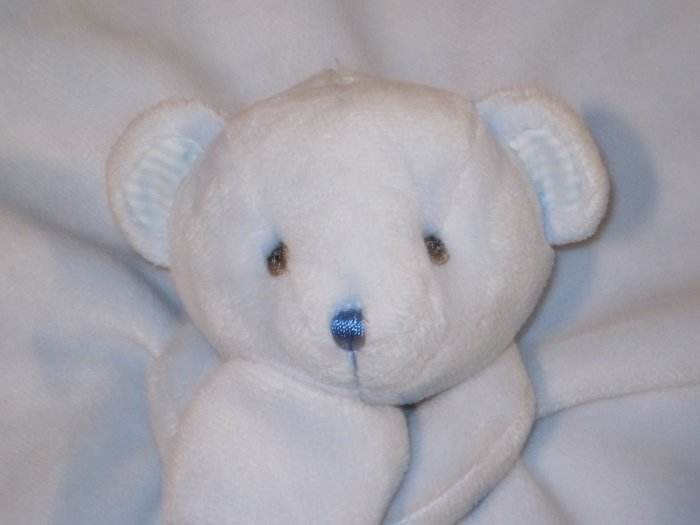 Just One year Blue Bear Lovey Security Blanket by Carters Thank Heaven for little Boys three bears