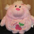 Kellytoy Decorative Pillow Pink Poodle Cherries