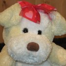 Valentines Plush Cream white Puppy dog a Walmart toy