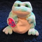 Ty Beanie Babies 2.0 Jumps the Frog with heart tag Plush Toy