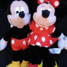 Walt Disney Co.  Plush Minnie Mouse and Applause Plush Mickey Mouse