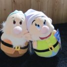 Disney Sega Prize USA Two Round Bottom plush Dwarfs from Snow White Plush Toys