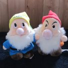 Disneyworld and Disney Store Two  plush Dwarfs from Snow White Plush Toys