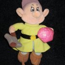 Disney Store Dopey Dwarf holding pickaxe and stone from Snow White