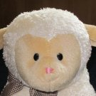 Gund Lullaby Lamb checkered bow plays Jesus Loves Me