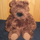 "Gund 14"" Brown Bear with black nose curly fur 2478"