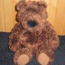 "Gund 14"" Brown Bear with black nose curly fur 2478"