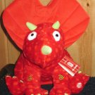 Hallmark New with tags Hug-a-saurus Red Dinosaur Laughing and shaking