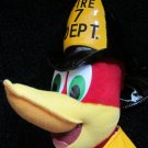 Universal Studios Plush Woody the Woodpecker Fireman with hose