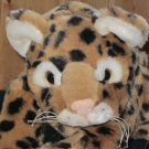 Adorable Plush spotted Leopard  with white pads on its feet it purrs or growls