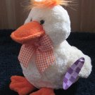 Animal Adventure Yellow Duck with orange checkered ribbon