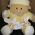 Soft Toy Concepts Inc Blanky Soft Baby Plush Doll with Bunny Slippers and Blanky