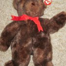TY Brown Bear named 'baby PJ' Dressed in Red Bow 1995 Teddy