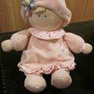 Kids Preferred Pink Velour Baby Doll Girl Lovey