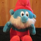 Peyo 1996 Musical PaPa Smurf Plush Toy Doll