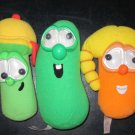 Veggie Tales Rattles Jr Asparagus Laura and Larry