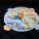 Carters Round Security Blanket Teether with yellow Teddy Bear Lovey