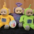Three New with Tags Teletubbies made by Eden from 1998