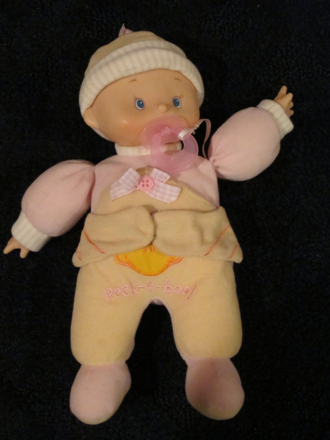 Cititoy Doll with pacifier and Peek a Boo on front