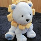Child of Mine Carters Blue Plush Lion with yellow mane Rattle Toy