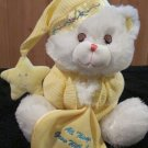 Goffa Int'l Plush White Praying Bear Yellow night shirt and Blanket 'All things Grow with Love'