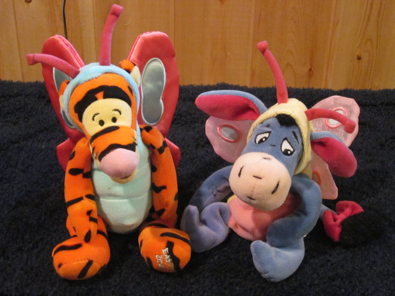 Disney Winnie The Pooh Plush Butterfly Eeyore and Tigger in costumes