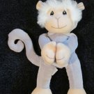 1998 Precious Moments Tender Tails Gray Grey Monkey Plush Toy