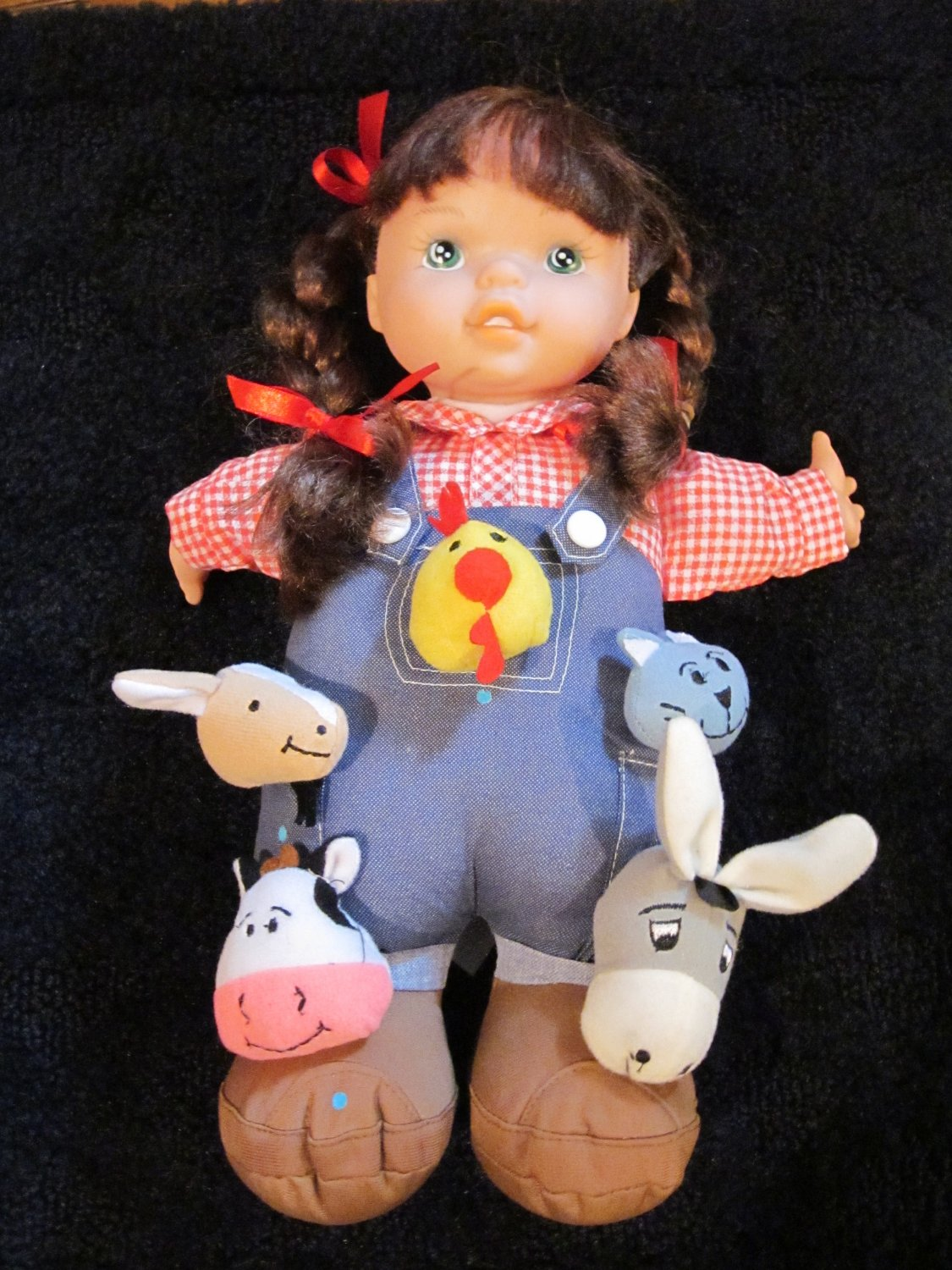 "Patti and Her Farm Pals 13"" Plush by Lovee Doll & Toy Co"