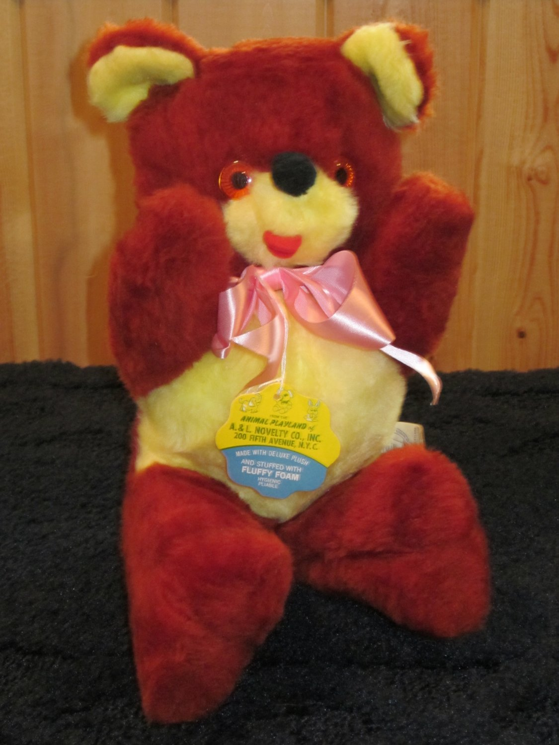 Vintage Teddy Bear from Animal Playland of A & L Novelty Co inc