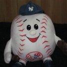 Plush White New York Yankees Baseball doll holding a glove and bat