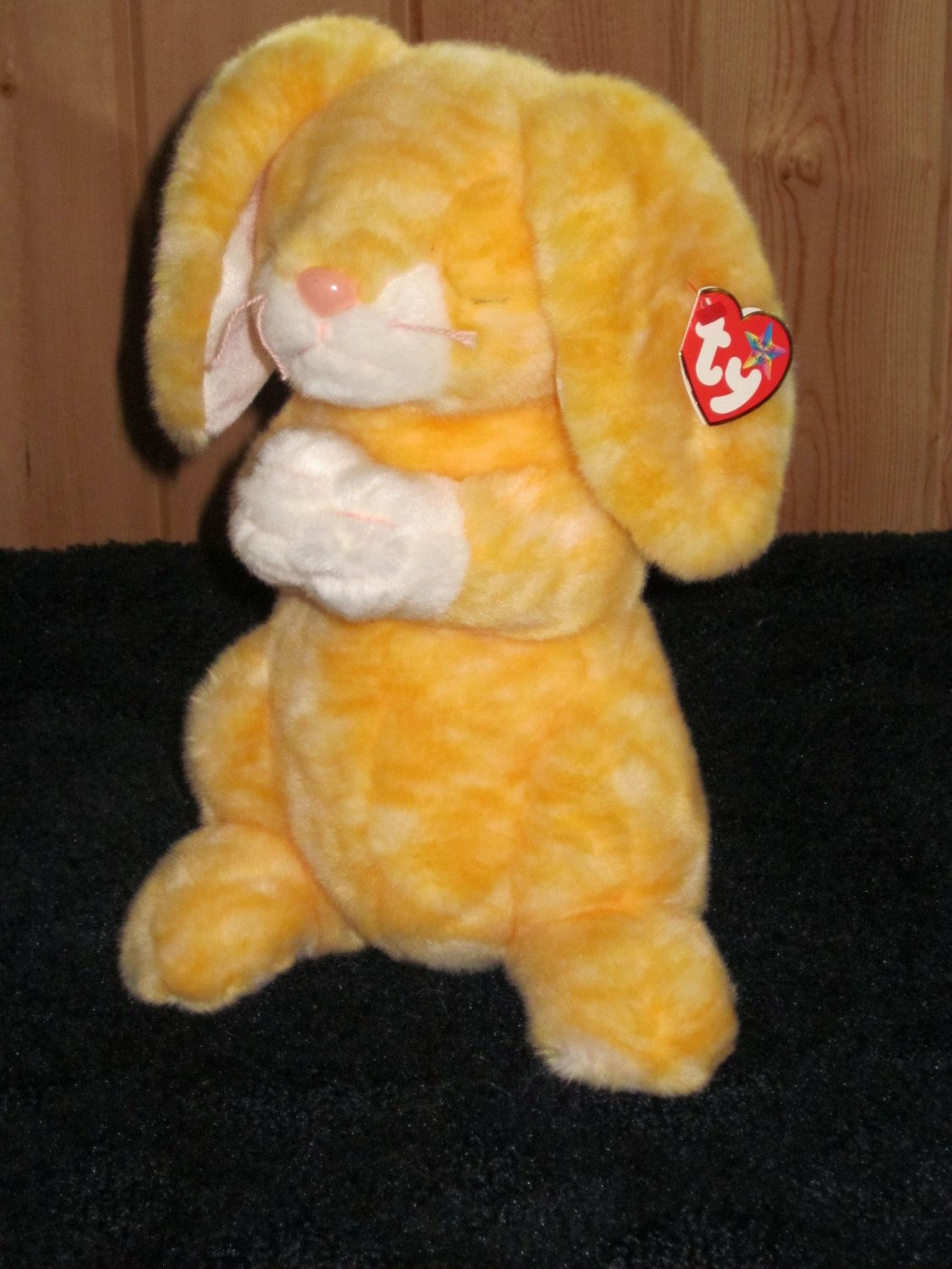 Ty Beanie Buddy Buddies Plush Yellow Bunny Rabbit named Grace