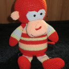 Baby Adventure Knit Plush Monkey with one ear