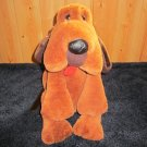 Vintage Carousel Plush brown Dog Blood Hound