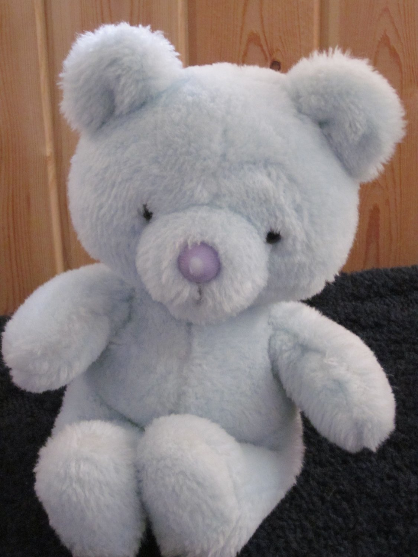Vintage Wallace Berrie 1982 Blue Teddy Bear