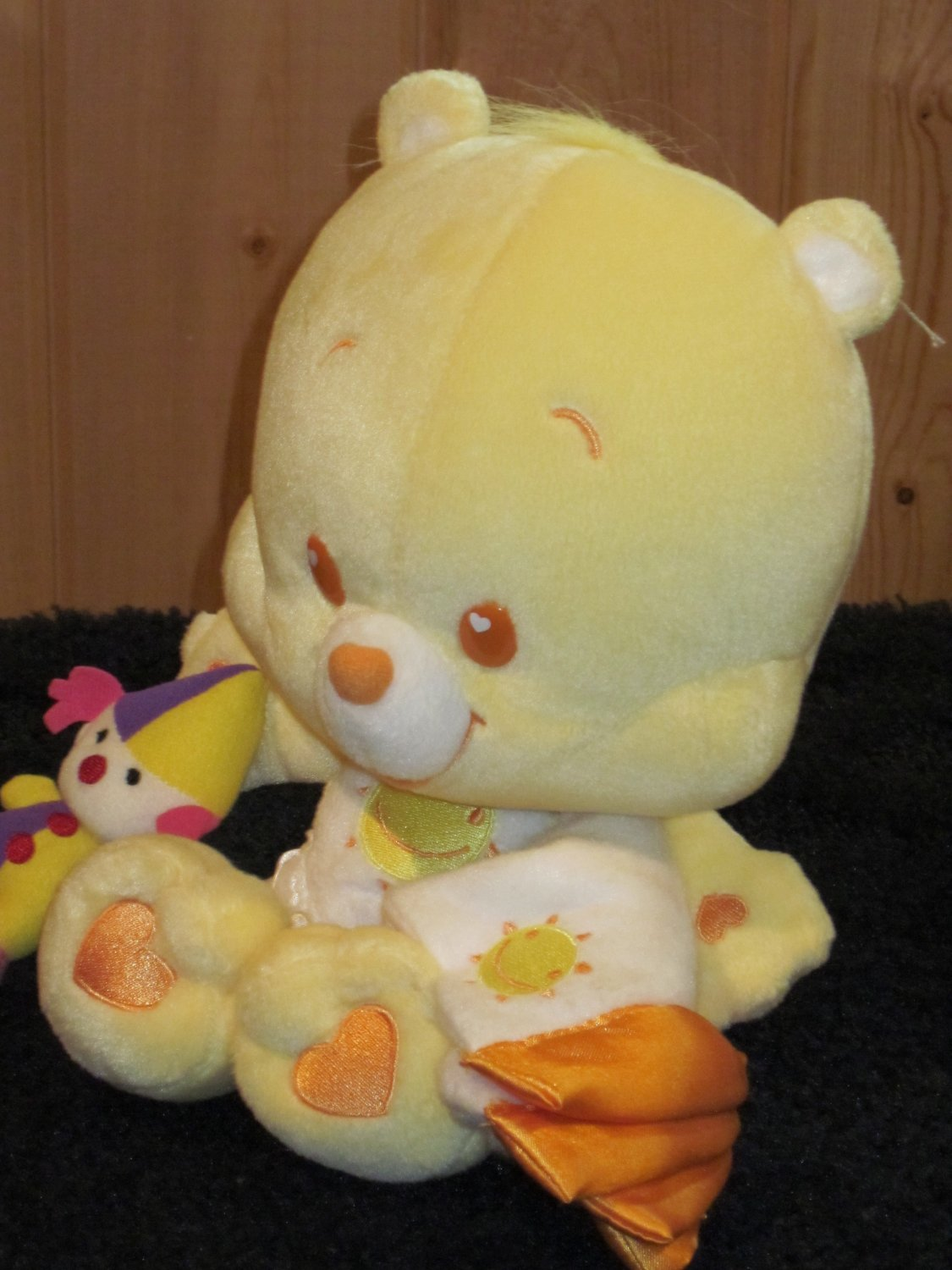 Care Bear Cubs Funshine with security blanket and Plush Clown Yellow CareBear