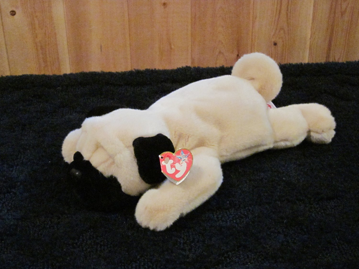 Ty Beanie Buddy Buddies Plush Dog Named Pugsly and the Beanie Baby too both are retired 2001